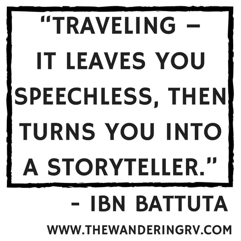 A quote about travel