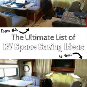 The ultimate list of RV space saving ideas! Almost 100 ideas, with pictures and links!