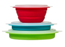 Collapsible bowls for RV kitchen