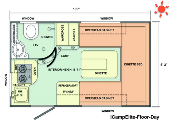 iCamp Elite Floorplan