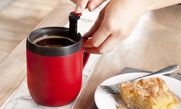 Cafetiere camping mug