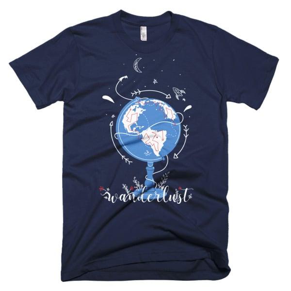 Wanderlust Shirt Navy Blue
