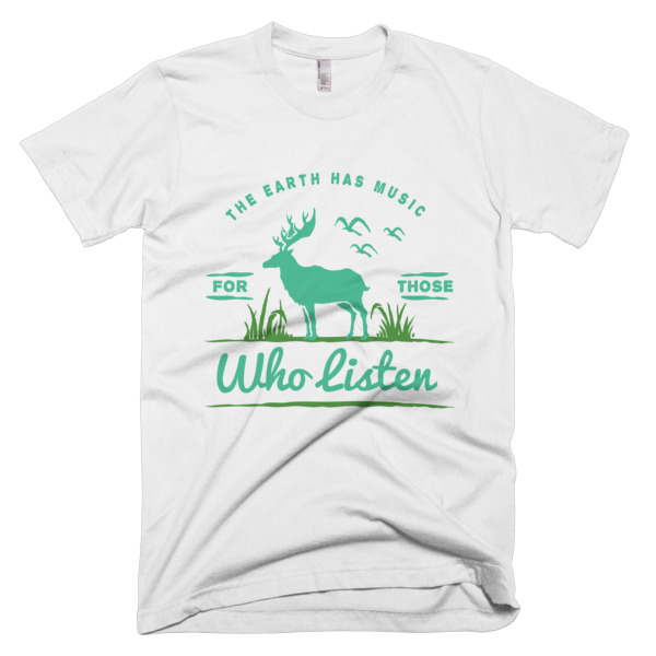 The Eart Has Music T-Shirt White