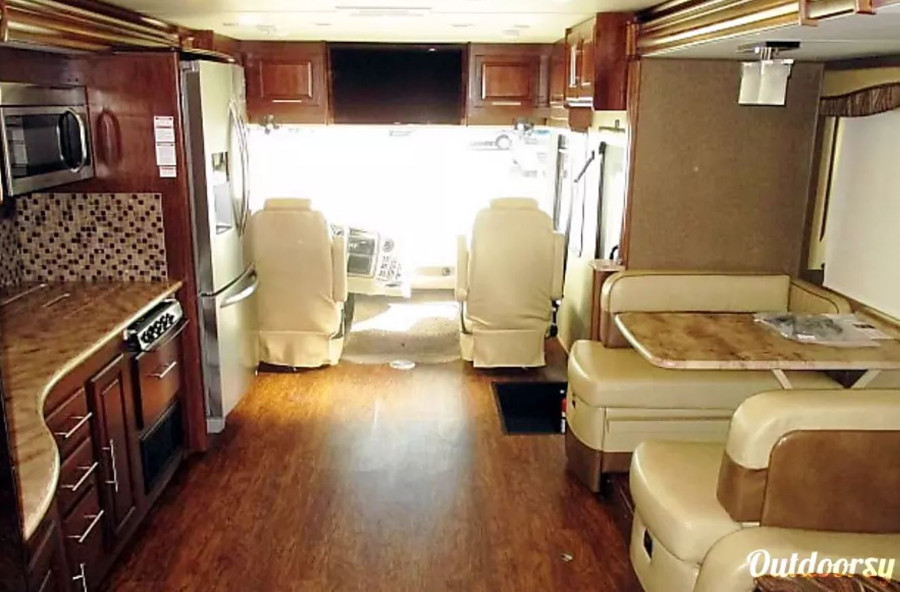 Inside Coachman Mirada Select RV Rental TX