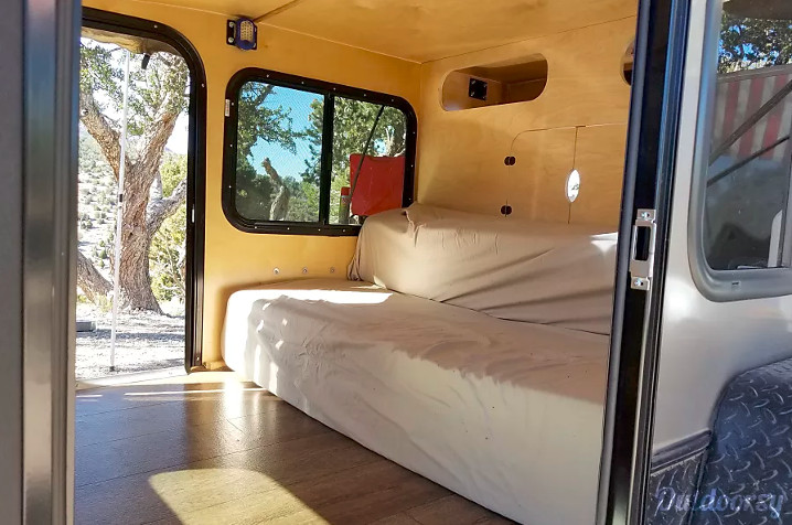 Inside Off-Road Teardrop Trailer