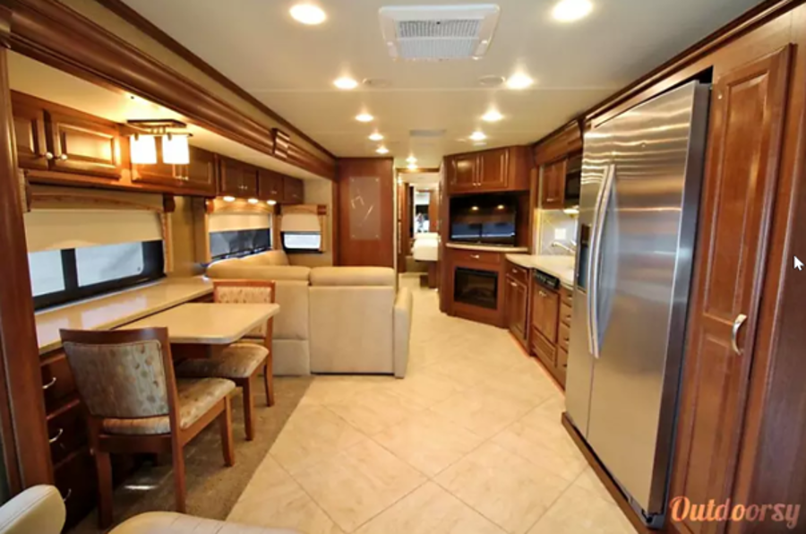 Inside Thor Motor Coach RV Rental Houston