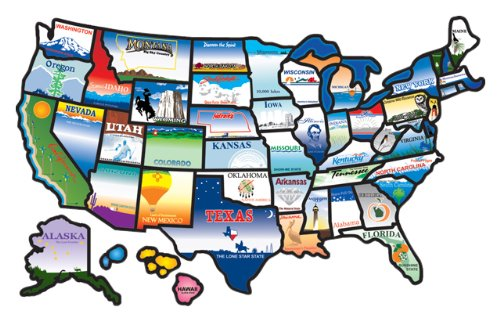 USA State Map Sticker