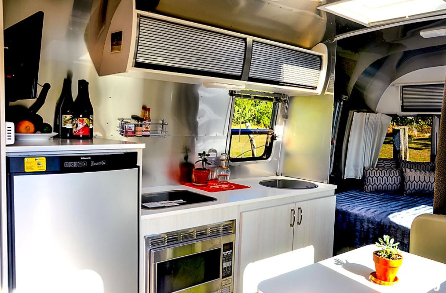 Inside 2016 Airstream Sport Travel Trailer Rental Hawaii