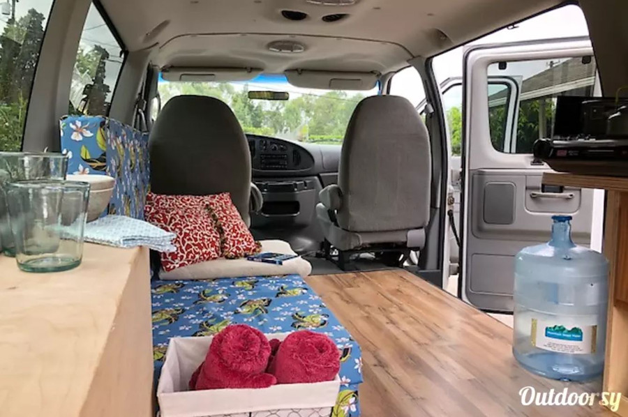 Inside Ford E350 Travelmaster