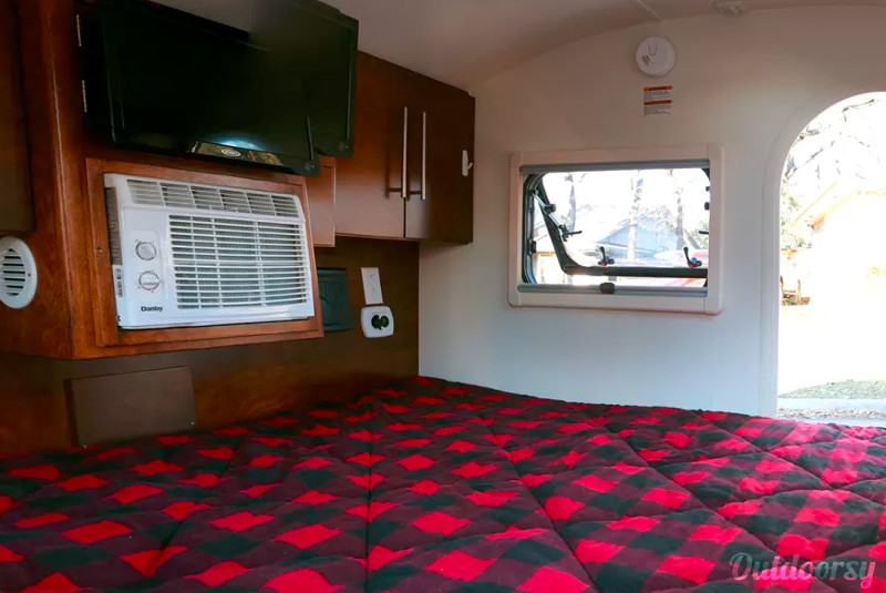 Inside Teardrop Camper