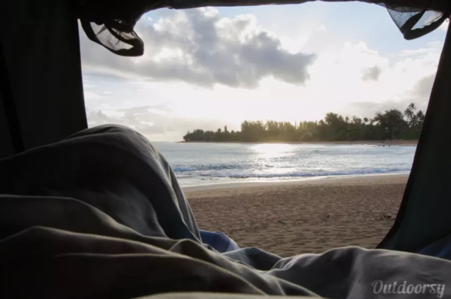 Inside Toyota Tacoma RV Rental Hawaii