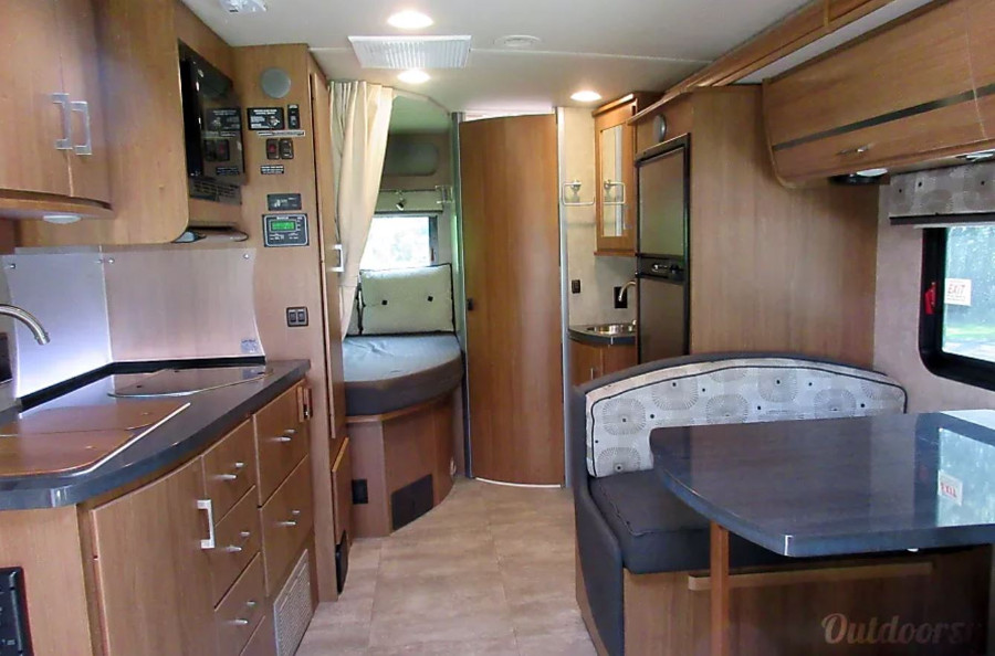 Inside Winnebago View RV Rental Tampa