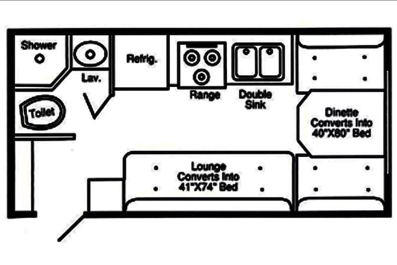 2008 Hi Lo 1907T Towlite floor plan