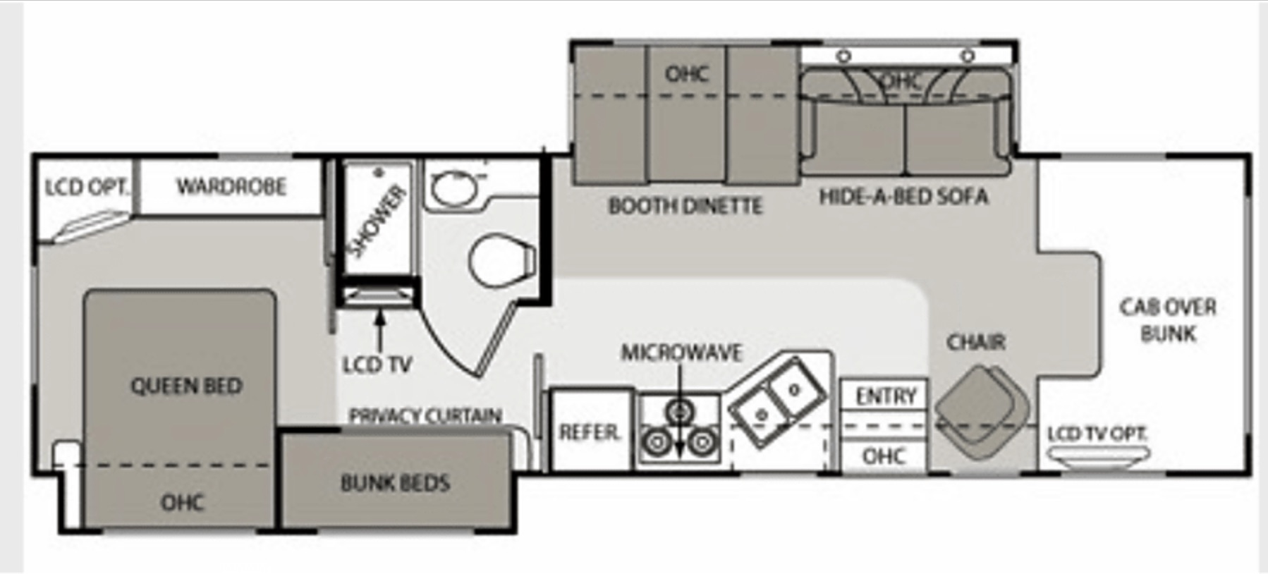 2009 motor coach chateau four winds floor plan