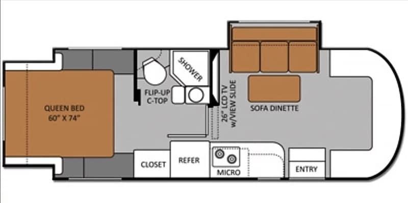 2014 Thor Motor Coach Chateau Citat Floor Plan