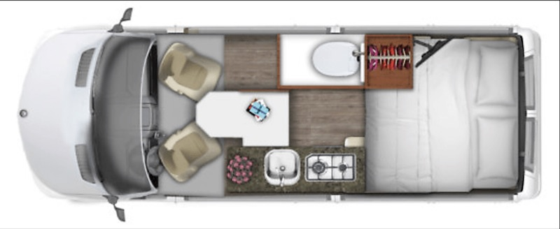 2015 Roadtrek Agile Ss floor plan