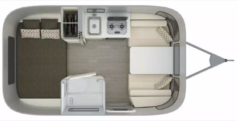 2017 Airstream Sport floor plan