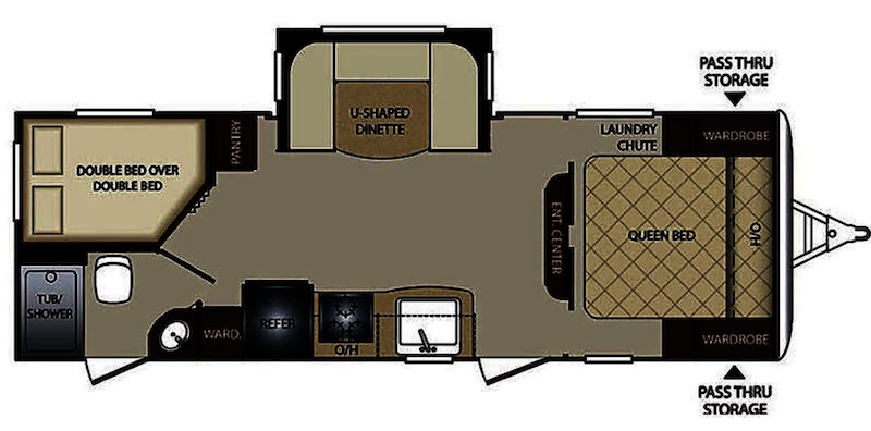 2017 Keystone Bullet floor plan