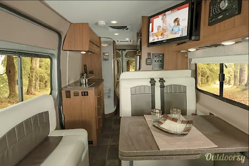 2017 Winnebago Travato interior