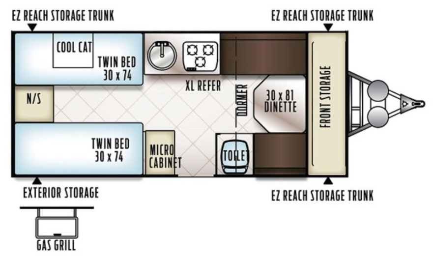 Forest River Flagstaff Floorplan