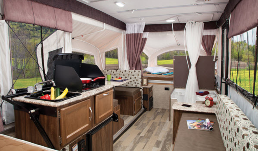 Inside Coachmen Clipper Pop Up Camper