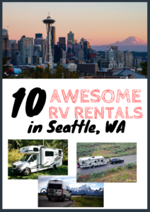 Seattle WA RV rentals