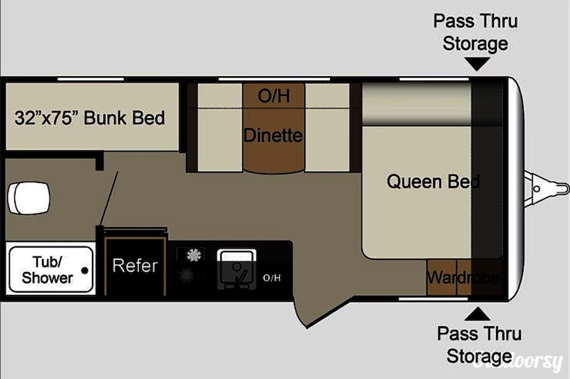 2017 Keystone Passport Floor Plan