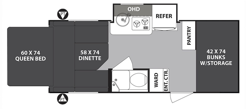 Forest River R-Pod Expandable Floor Plan