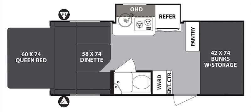 Forest River R-Pod Expandable Floor Plan