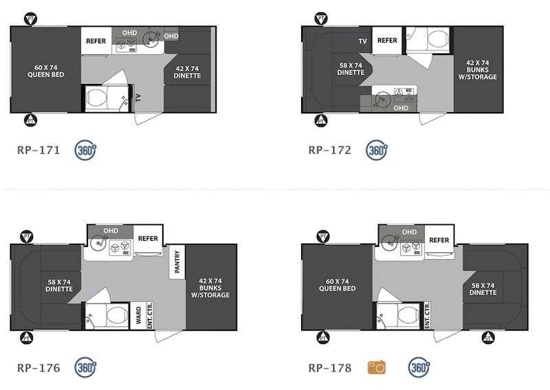 Forest River R-Pod Ultralite Floor Plans