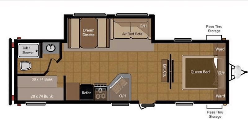 2010 Keystone Sprinter Floor Plan