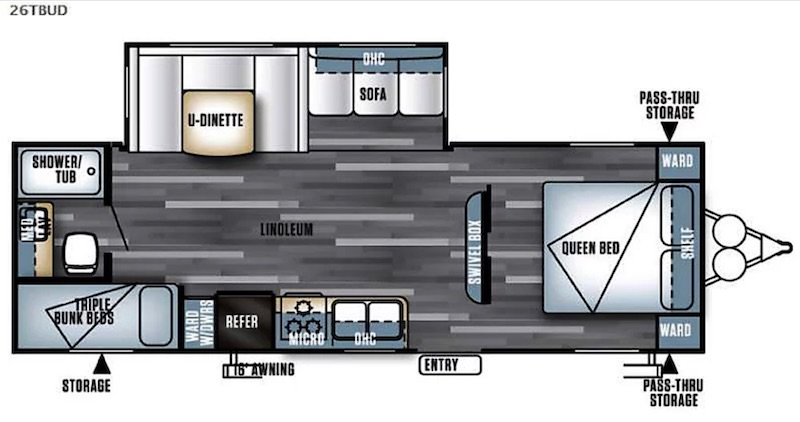 2018 Forest River Salem Floor Plan