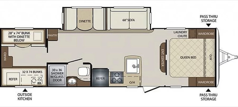 2018 Keystone Bullet floor plan
