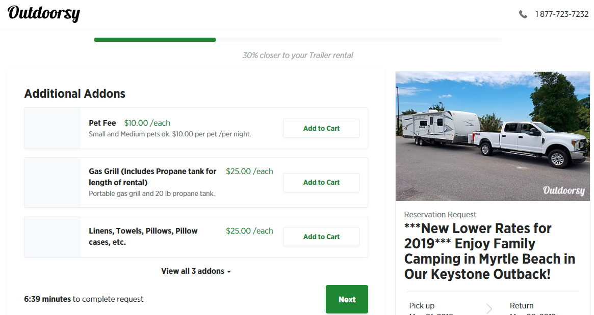 Outdoorsy RV Rental Process