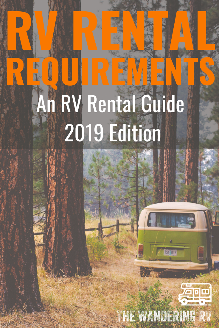 RV Rental Requirements