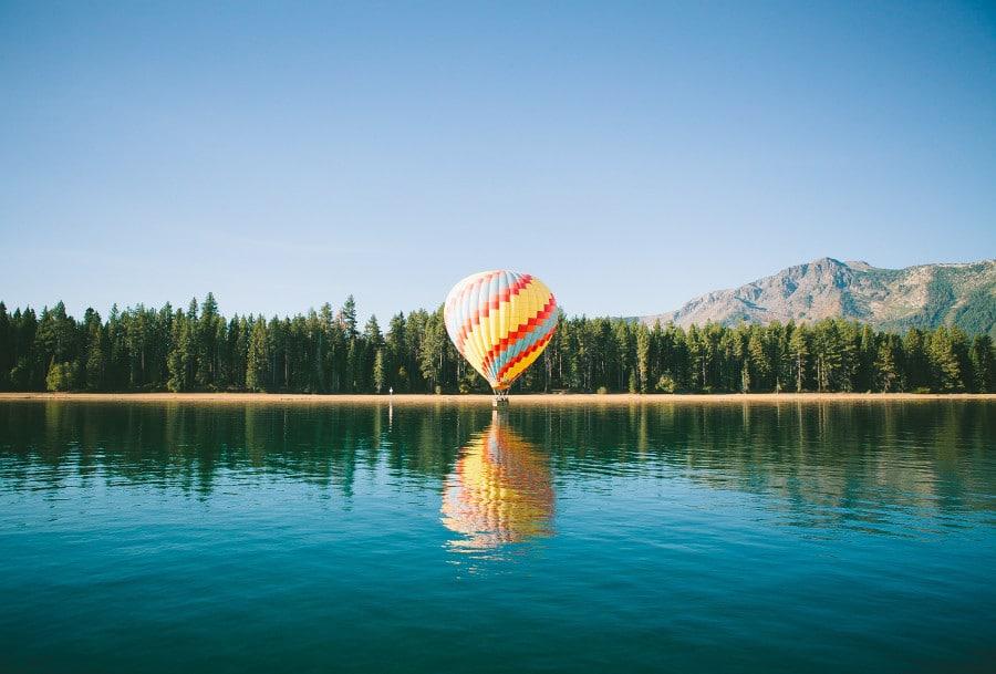hot air balloon lake tahoe