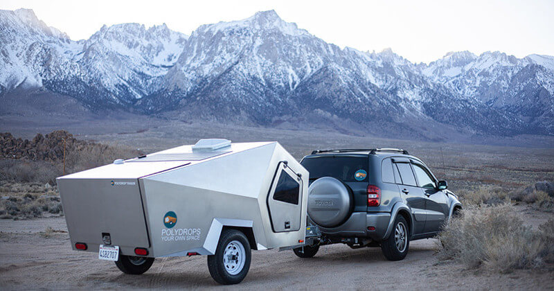Polydrop teardrop trailer