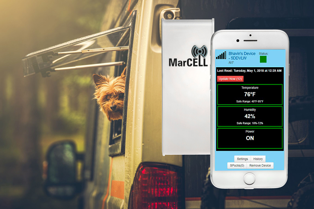 MarCELL RV Temperature Monitoring System to Keep Pets Safe