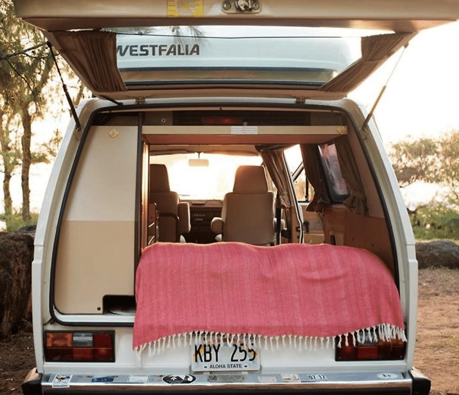 Inside 1986 Volkswagen Camper Van