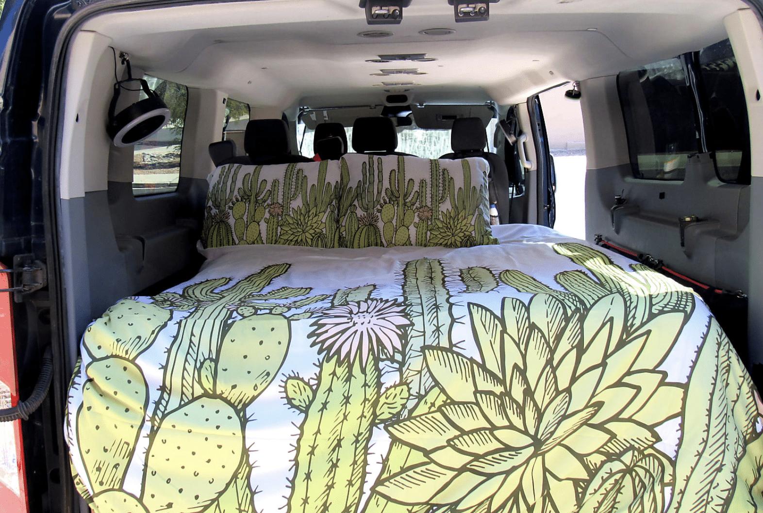 Inside Big Blue Adventure Van