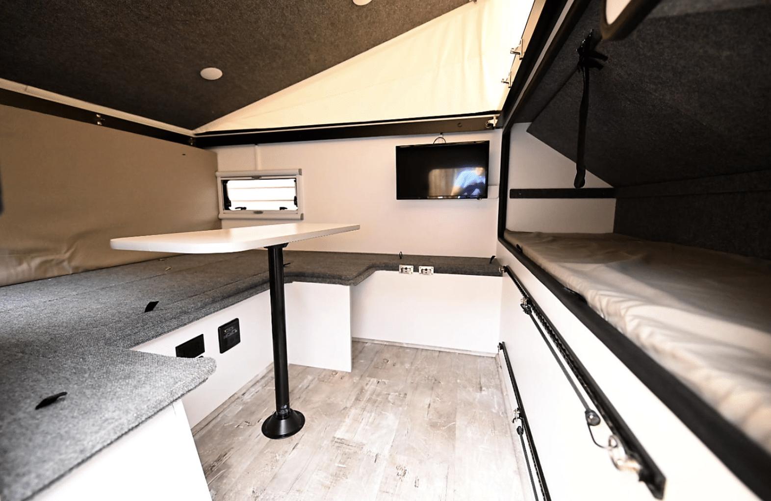 Inside Teton X Hybrid Trailer