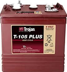 4 X Trojan Battery T-105 Plus 6V Deep Cycle Flooded 225 Ah