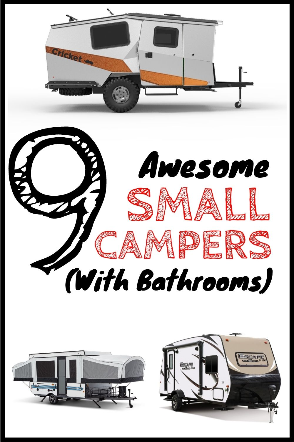Small Campers with Bathrooms
