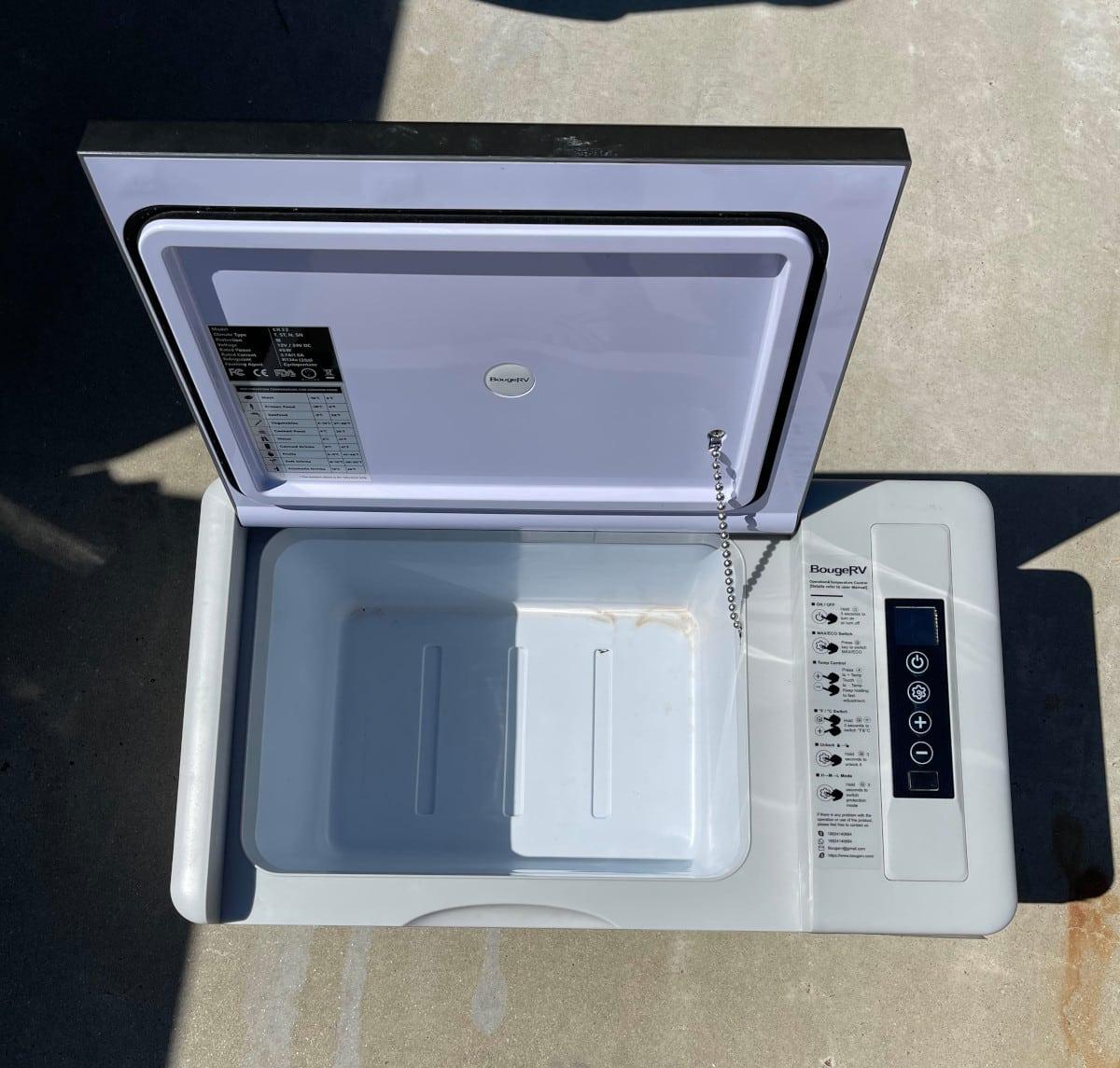 BougeRV Portable Fridge Open