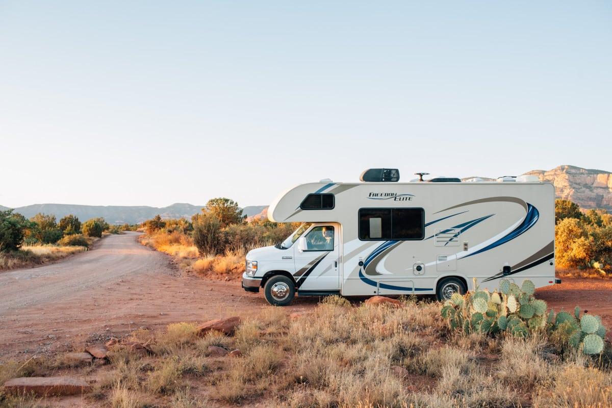 RV in desert